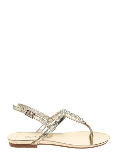 D by Divarese Taşlı Sandalet Altın